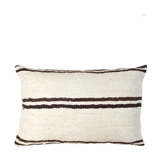 Brown & Beige Striped Mud Cloth Pillow
