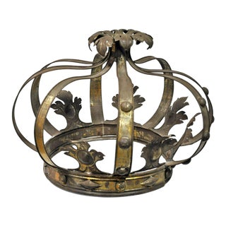 Oversized French Antique Tole Crown