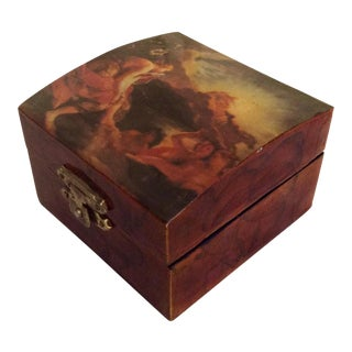 Vintage Decopauge Wood Trinket Box