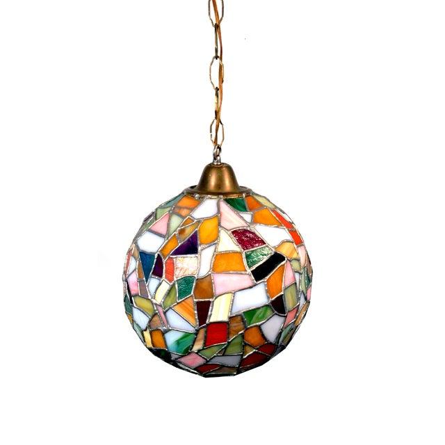 Mid-Century Mosaic Globe Pendant Lamp - Image 1 of 8