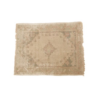 "Vintage Distressed Oushak Square Rug - 2'11"" x 3'8"""