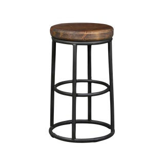 Reclaimed Wood and Iron Counter Stool