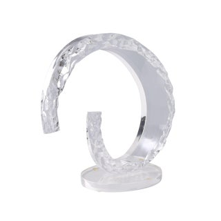Abstract Lucite Sculpture on Oval Base