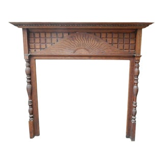 Beaux Arts Carved Wood Mantel