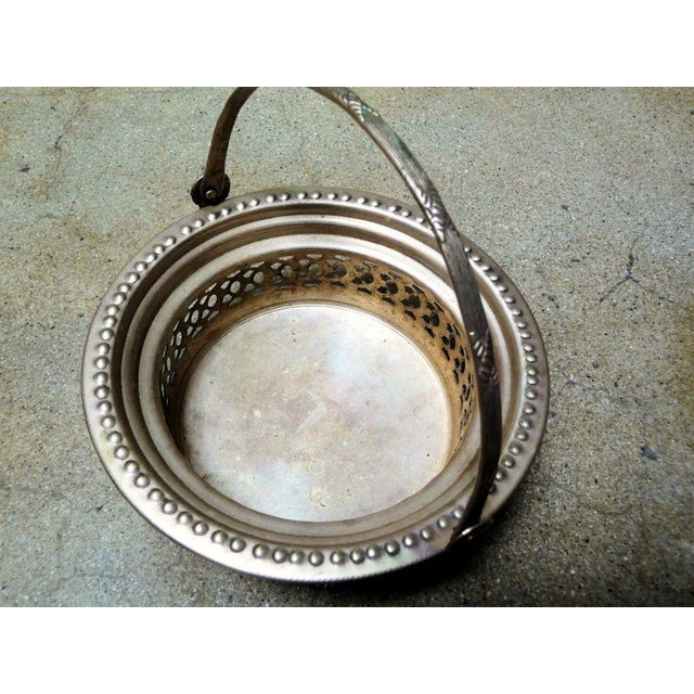 Antique Silver Dish With Handle - Image 2 of 4