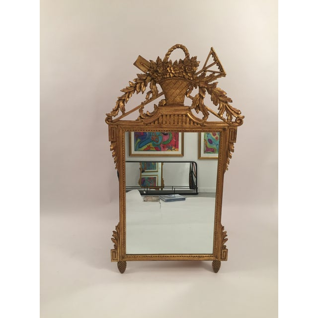 Neoclassical Gold Leaf Mirror - Image 3 of 11