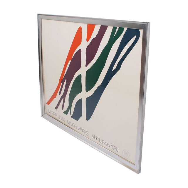 Image of 1979 Morris Louis Major Works Exhibition Poster