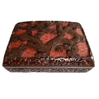 Lacquerware Handwork Carved Dragon Box