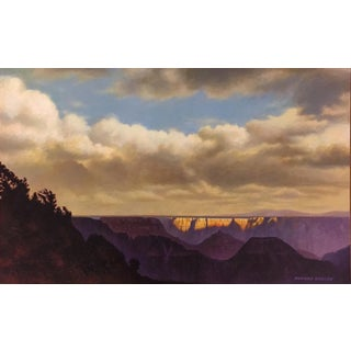 "Howard Koslow ""View of the Grand Canyon"" Acrylic Painting On Masonite"
