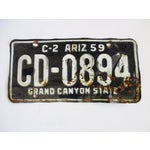 Image of 1959 Arizona Grand Canyon State License Plate