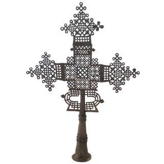 Antique Ethiopian Coptic Processional Cross