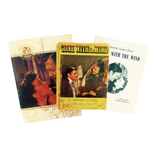 """Vintage """"Gone With the Wind"""" Memorabilia - Set of 3"""