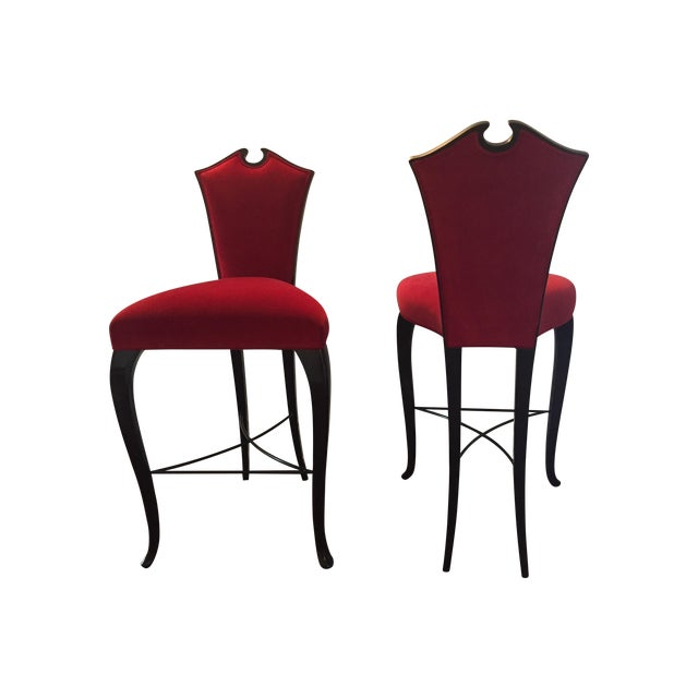 Christopher Guy Arch Bar Stools- A Pair - Image 1 of 3