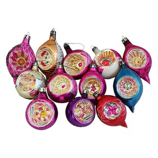 1950s European Christmas Ornaments w/Box - Set of 12