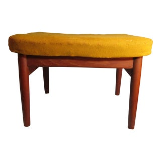 Finn Juhl for France & Son Teak Danish Modern Ottoman John Stuart