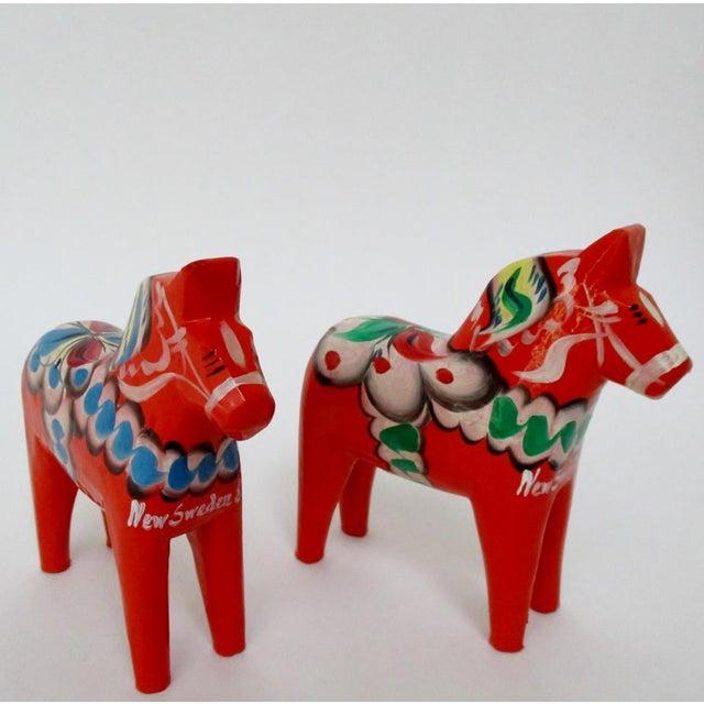 Nils Olsson Swedish Dala Horses- A Pair - Image 3 of 8