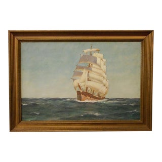 Clipper Ship Oil Painting by C.C. Titterton