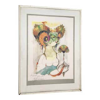 Bjorn Wiinblad Lithograph With Deckle Edge