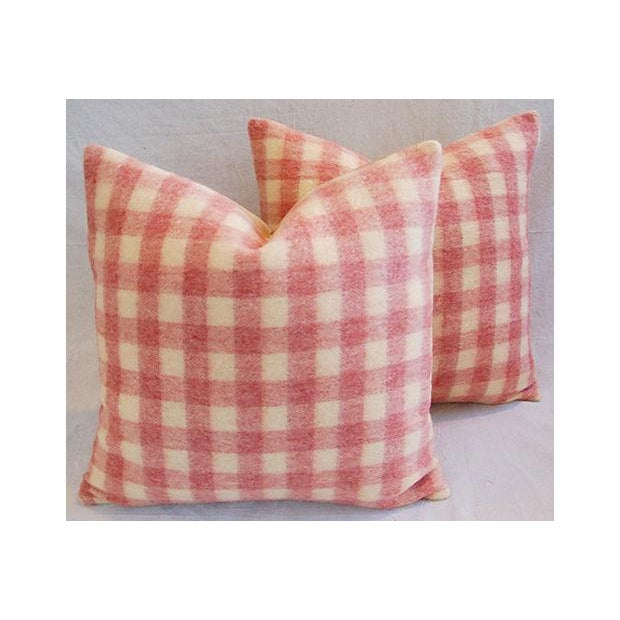 Custom Scottish Plaid Virgin Wool Pillows - A Pair - Image 2 of 8