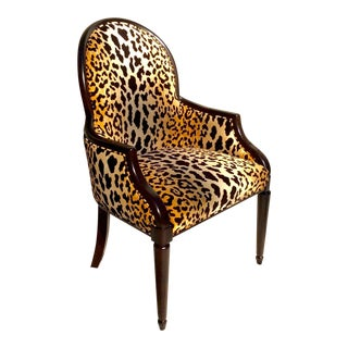 Velvet Animal Print Accent Chair