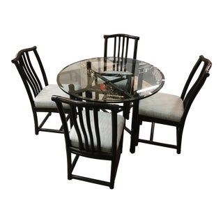 McGuire Round Java Bamboo Dining Table & Chairs
