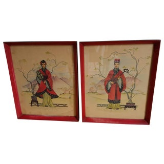 Vintage Chinois Prints - Pair