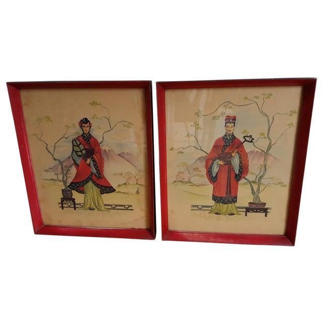 Vintage Chinois Prints - Pair - Image 1 of 4