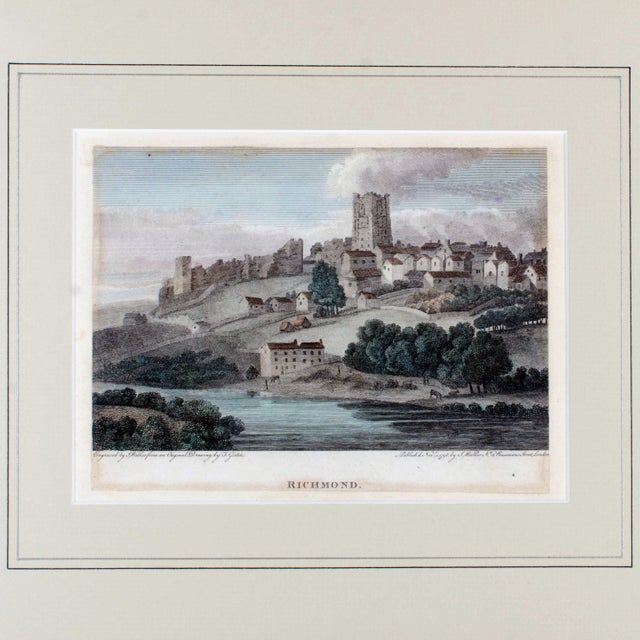 c1854 Richmond Castle, Yorkshire, England Engraving by Thomas Girtin - Image 2 of 3