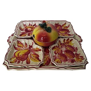 Italian Pottery Serving Set - 6 Pieces