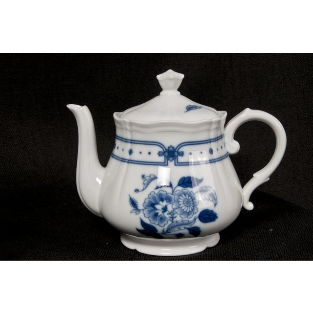 Italian Blue & White Tea Service - Image 4 of 6