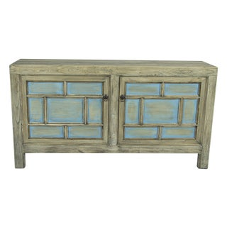 Blue Grid 2-Door Sideboard