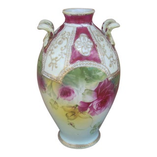Nippon Victorian Hand Painted Vase