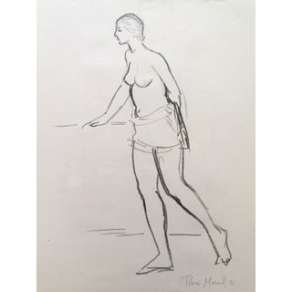 Drawing of a Partial Nude by Rene Marcil