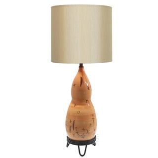 Rare Du Nord Mid-Century Ceramic Lamp