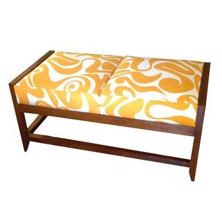Danish Modern Love Seat Bench