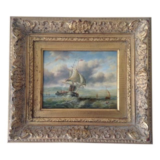 Homage 18th C. French Maritime Oil Painting