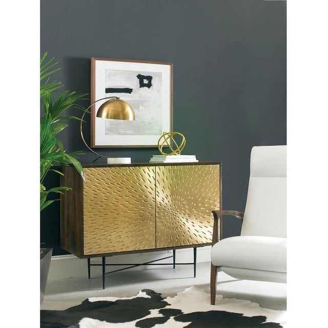Contemporary Wooden Metal Living Room Cornell Chest Cabinet - Image 7 of 10