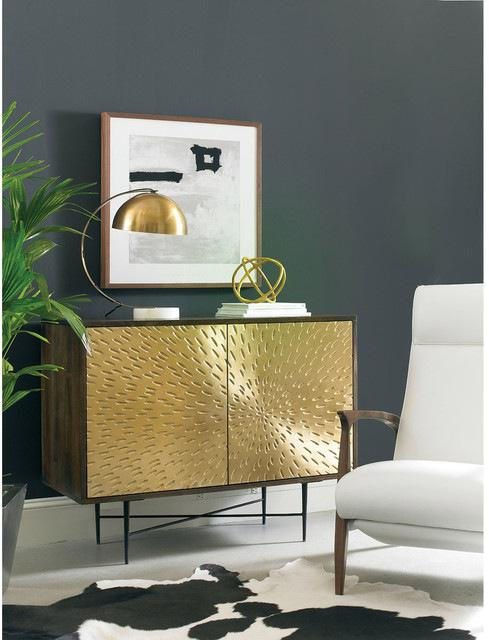 Contemporary Wooden Metal Living Room Cornell Chest Cabinet   Image 7 Of 10