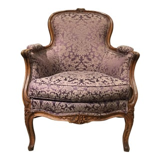 Vintage French Bergere Armchair
