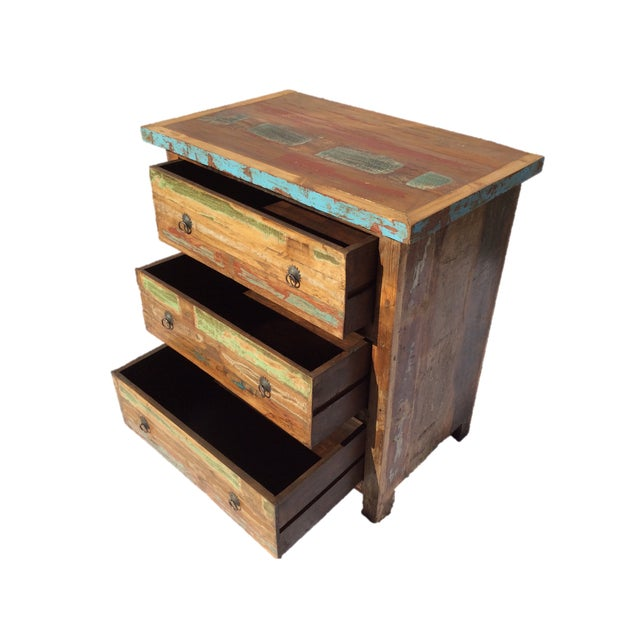 Reclaimed Wood Three Drawer Dresser - Image 3 of 3