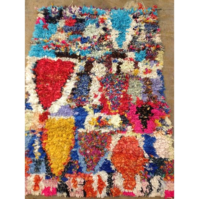Boucherite Rag Carpet - 4′6″ × 5′ - Image 2 of 5