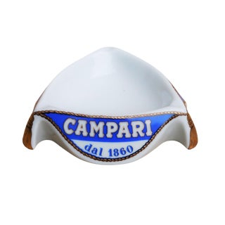 Campari Triangular Ceramic Italian Ashtray