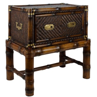 Ralph Lauren British Isles Rattan Chest Table & Stand