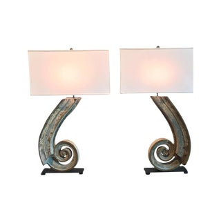 Pair of 19th Century Architectural Elements Re-Purposed as Lamps