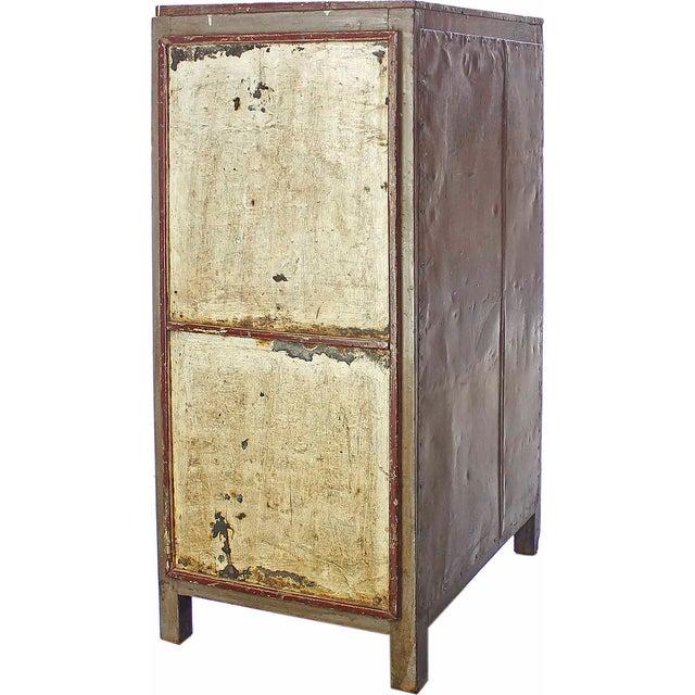 Vintage Olive-Hued Cabinet - Image 4 of 4