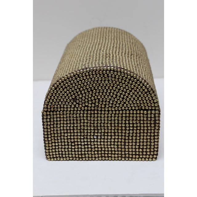 Brass Studded Tabletop Trunk - Image 5 of 9