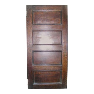 Interior Four-Panel Quartersawn Oak Door