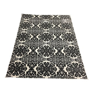 Powell Black & White Rug- 5′4″ × 7′5″