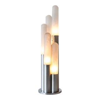 Extra Large Murano Glass and Chrome Lamp by Carlo Nason for Mazzega