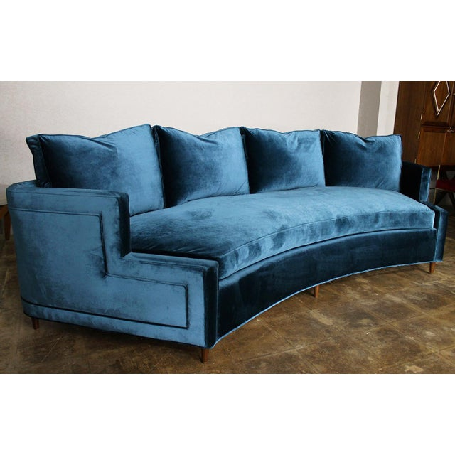 Pierre Curved Velvet Sofa - Image 3 of 4